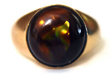 10K Solid Gold with Natural Mexico Opal Ring Size 7