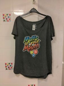 Women's M&Ms World Melts In Your Mouth  oversized T-Shirt Size XL RRP £28.95