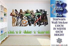 Star Wars Pared Adhesivo Childrens bedroom Pared Arte Pegatina Calcomanía Extra Grande.
