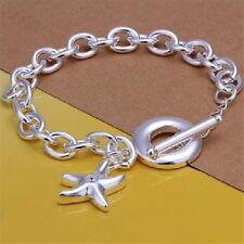 Damen Armband mit Seestern Anhänger Zirkonia Stein 925 Sterling Silber plattiert