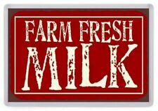 Farm Fresh Milk Fridge Magnet. American Diner Sign