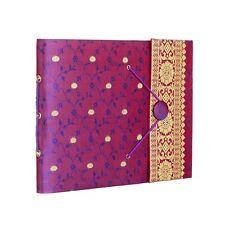 Fair Trade Handmade Medium Purple Sari Photo Album, Scrapbook 2nd Quality