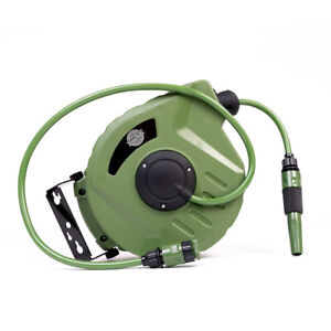 Wall Mounted Retractable Garden Water Hose Reel Portable 10M/20M