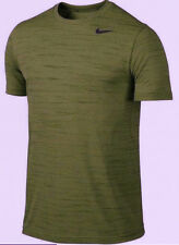NIKE TOUCH HEATHER T SHIRT NWT ARMY OLIVE GREEN MEN SIZE MED 848888-325 TRAINING