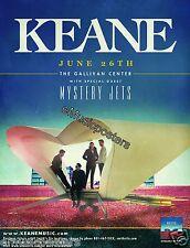 KEANE/MYSTERY JETS 2012 SALT LAKE CITY CONCERT TOUR POSTER-Alternative Pop Music