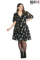 Hell Bunny Solaris Sun Moon Stars Gothic Wicca Plus Size Chiffon Dress XS-4XL