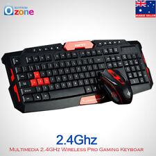 Multimedia 2.4GHz Wireless Gaming Keyboard & Mouse Bundle Set Desktop Laptop