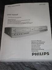 Bedienungsanleitung DVD Video Player PHILIPS DVP3100V