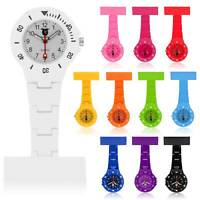 Fashion Coloured Plastic Nurses Watch Fob Watch Brooch Waterproof Ladies Nurse