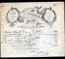 """TOULOUSE (31) USINE de PAPETERIE & ARTICLES DE BUREAU """"S. TOURNIER"""" en 1883"""