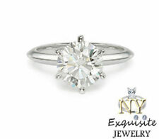 CERTIFIED .50ct F/VS2 ROUND GENUINE DIAMOND 14K GOLD SOLITAIRE ENGAGEMENT RING