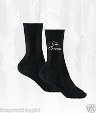 Black Cotton Socks Groom, Best Man, Usher, Father of the Bride Wedding Day Gift