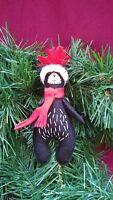 Homespun Maine Black Bear Rustic Primitive Christmas Farmhouse Ornaments, New