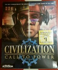 Civilization Call to Power PC 1999 Activision Big Box edition collectible sealed