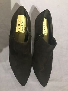 Joanna Hope Women Black Suede Ankle Wide Fit Shoes Size 6EEE (BT14)