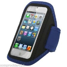 Brazalete deportivo Brazo Azul para iPhone 5/5 C/5S 4s 4 Deporte Sportiva
