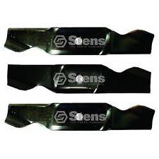 """3 Blade Set (1) 742-3010, 759-3818 (2) 742-3011, 759-3819 46"""" Lawn Mower Deck"""