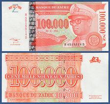 ZAIRE 100.000 Nouveaux Zaires  30.6.1996  UNC  P.77