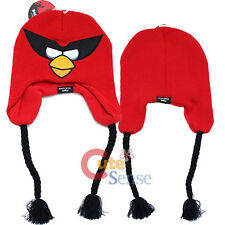 Rovio Angry Birds Space Red Bird Knitted Lapland Hat  Beanie with Ear Flap