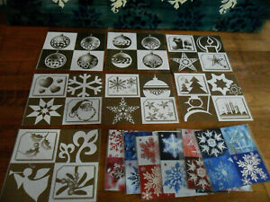 Lot 76 Vintage Unused French GIFT TAGS Joyeux Noel Merry Christmas Gold Blue Red