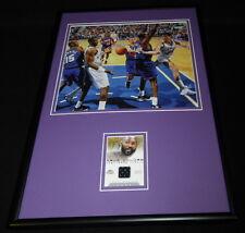 Karl Malone Framed 12x18 Game Used Jersey & Photo Display Utah Jazz