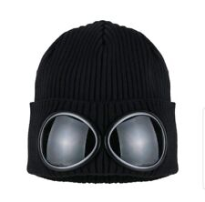 C.P. Company 2 Goggle beanie Ribbed BLACK BNWT POSTING OUT AS NORMAL FAST & FREE