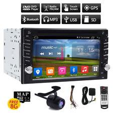 "6.2"" 2-Din Navigatore Autoradio GPS Car Stereo DVD Player MP3 HD CD USB +Camera"