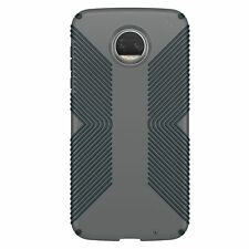 Speck Presidio Grip Case Motorola Moto Z2 Force Graphite Grey Charcoal Grey