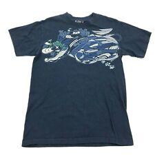 Hurley Hawaii Vibes Shirt Men's Size M Medium Navy Blue Script Logo Graphic Tee