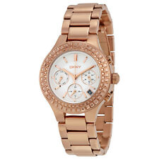 DKNY Chambers White Dial Rose Gold-plated Ladies Watch NY2261