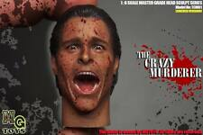 MGtoys 1/6 Scale Shouting American Psycho Christian Bale Head Sculpt