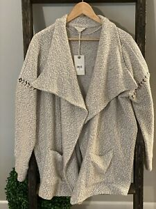 NWT Lucky  Brand sweater open front Large Draped cardigan