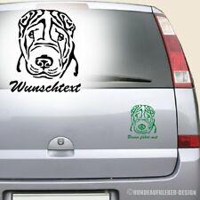 Chinese Shar Pei Autoaufkleber 15cm mit Wunschtext / Name Hundeaufkleber 0765