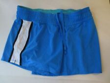 Xersion SZ L Large Semi-fitted blue running shorts white stripe