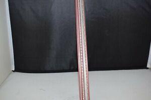 Old School Bmx Seat post pillar 22.6 mm aluminium pink with silver decor NOS