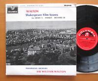 33CX 1883 Walton Conducts Shakespeare Film Scores EXCELLENT Columbia Mono LP