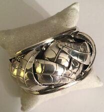 Joaquin Cadenas Loera Domed Leaf Cuff Bracelet 925