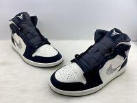 Nike Air Jordan 1 Mid SE Black Sail Size 10.5  852542 010 Equality BHM Melo Logo
