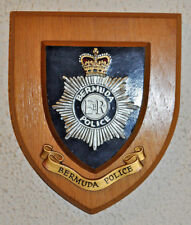 Bermuda Police mess wall plaque shield crest Constabulary