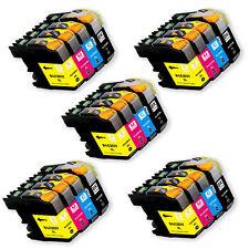 20PK Printer Ink Set w/ Chip for Brother LC201 LC203 XL MFC J460DW J480DW J485DW