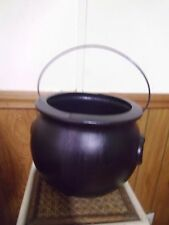 """BLACK CAULDRON  PROP PARTY DECOR  TRICK OR TREAT 10"""" H  will hold water"""