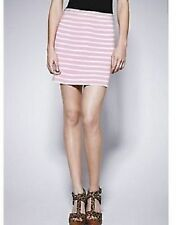 Love Label Pink & White Stripe Ponti Mini Skirt Size 16 BNWT B3
