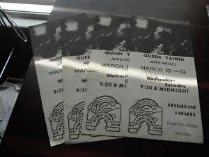 Lot of 4 Vintage 1970s Queen Yahna Pre Concert Ad Cards Yellow Brick Road