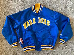 Golden State Warriors Starter NBA Satin Jacket Vintage 90s Mens Sz XL Rare