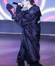 Chic  Men Long Black Oversized Raincoat Korean Waterproof Windbreaker Rain Jacke