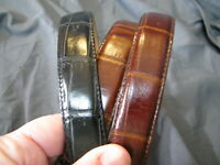 Womens Real Genuine Leather Dark Brown Belt 1.1 Wide S-L Thick Casual Jeans CW7
