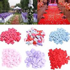 100Stk Herzform gefüttert Stoff werfende Blumenblätter Tisch Hochzeit Mode Stil