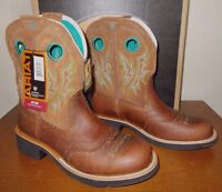 NEW ARIAT Fatbaby Cowgirl Powder Brown Tan Western COWBOY BOOTS WOMENS 9.5 NIB