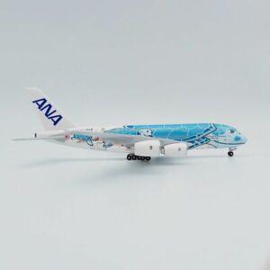1:500 A380-841 ANA FLYING HONU JA383A Sunset blue A380 airplane model Plastic