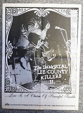 1990's Touch And Go/Estrus newsprint promo poster ~ IMMORTAL LEE COUNTY KILLERS